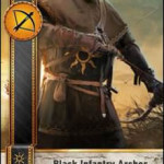 Black Infantry Archer 2 Gwent card
