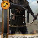 Black Infantry Archer Gwent Card