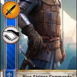 Blue Stripes Commando Gwent card