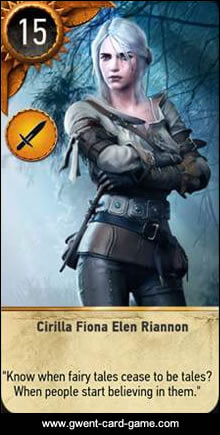 Cirilla Gwent Card - Witcher 3