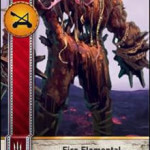Fire Elemental Gwent card