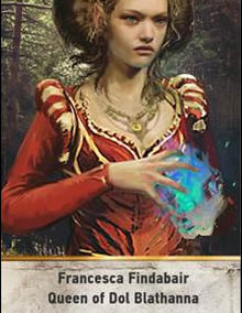 Francesca-Findabair-Queen-of-Dol-Blathanna-gwent-card