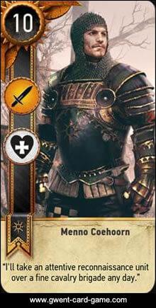 Menno Coehoorn Gwent Card - Witcher 3