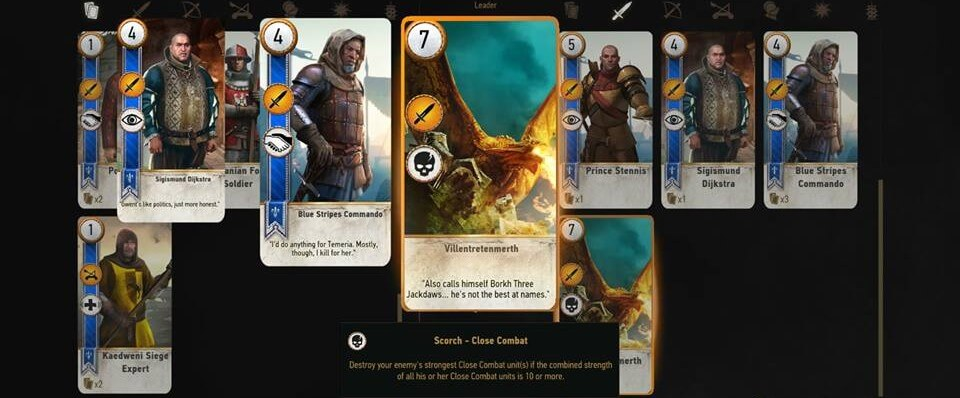 Gwent Cards in Witcher 3