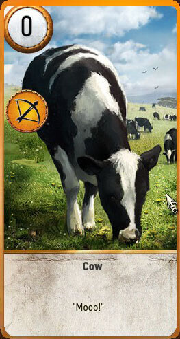Cow Gwent Card Hearts of Stone